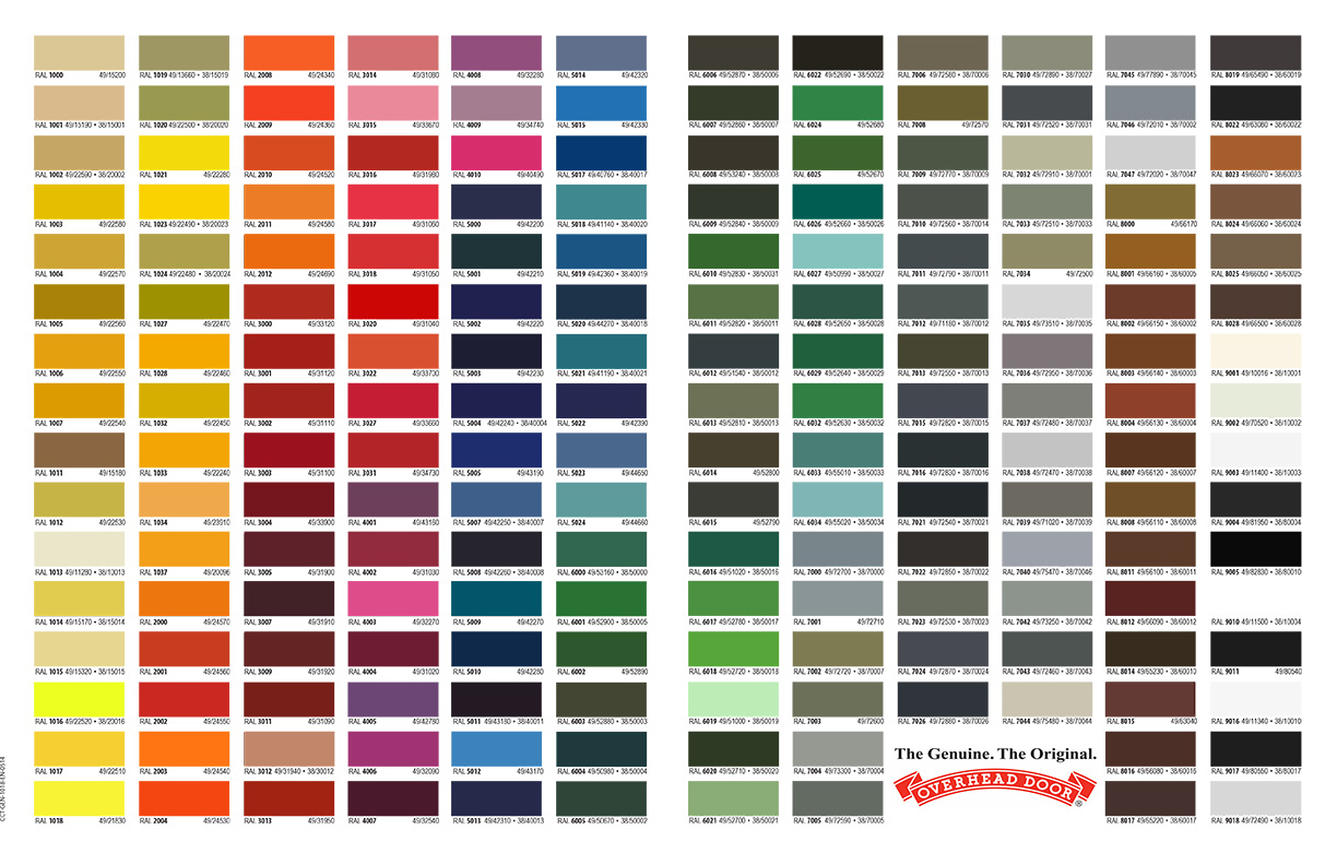 Garage Door Color Guide
