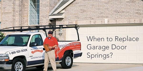 When To Replace Your Garage Door Springs